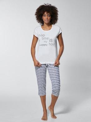 wäschepur Schlafanzug - weiß-schwarz