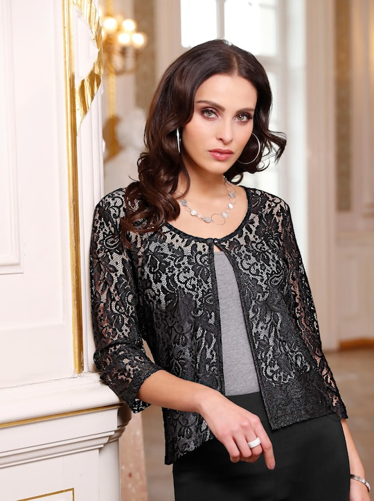 Fair Lady Shirtjacke - schwarz
