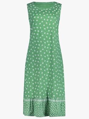 Kleid - grün-gemustert