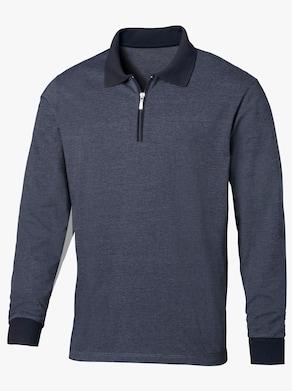 Poloshirt - blau-meliert