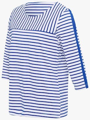 Shirt - royalblau-weiß-gestreift