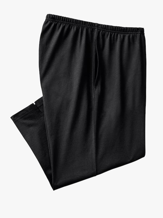 Set van twee capri-vrijetijdsbroeken - zwart + grijs gemêleerd