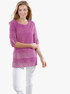 Tričko - purpurová
