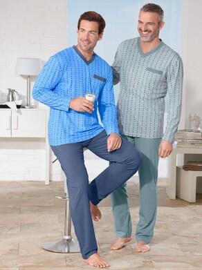 KINGsCLUB Schlafanzüge - mint + blau