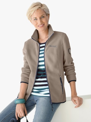 Fleece-Jacke - taupe
