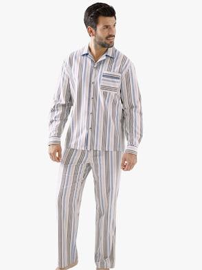 Schlafanzug - ecru-gestreift