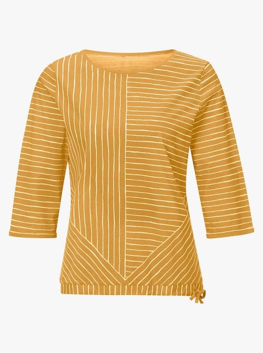 Shirt - ocker-geringelt