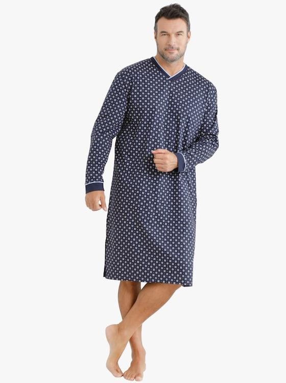 Nachthemd - marine-gemustert