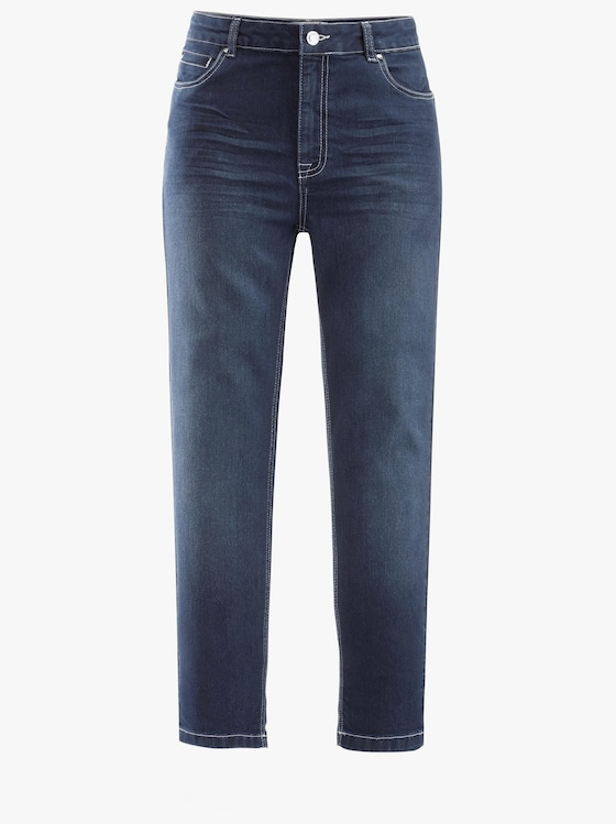 7/8-Jeans - blue-stone-washed