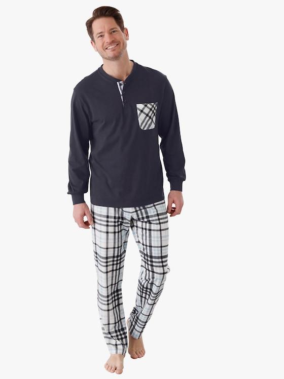 Pyjamas - marin, rutig
