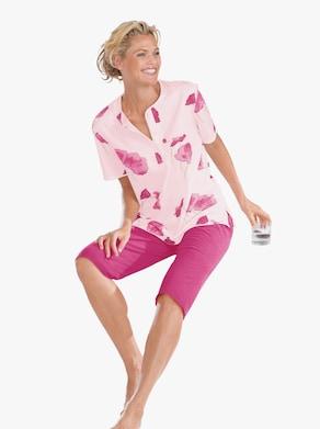 Arabella Capri-Anzug - rosé-bedruckt