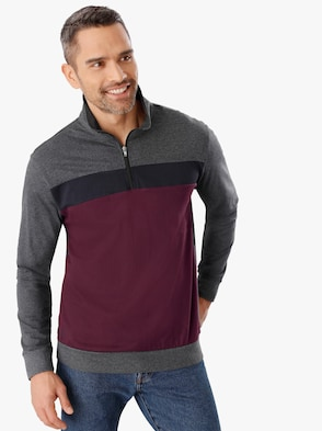 Poloshirt - bordeaux-anthrazit