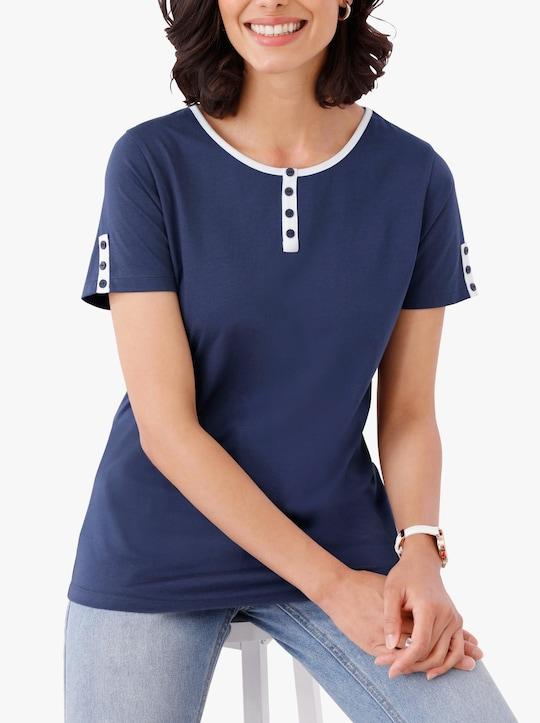 Tričko - noční modrá