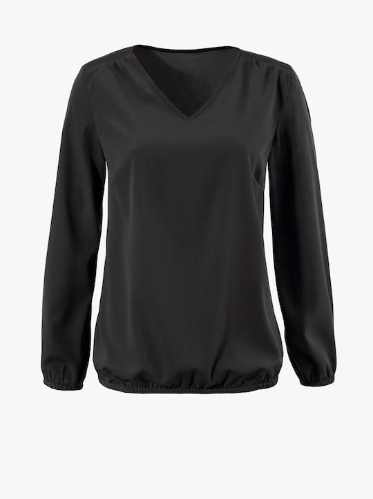 Comfortabele blouse - zwart