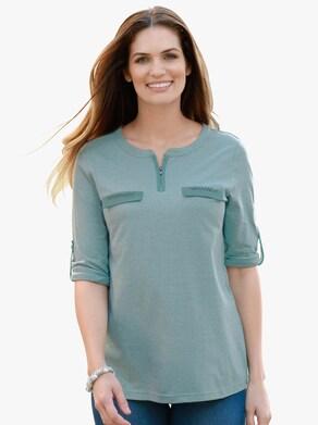 Shirt - turquoise gemêleerd