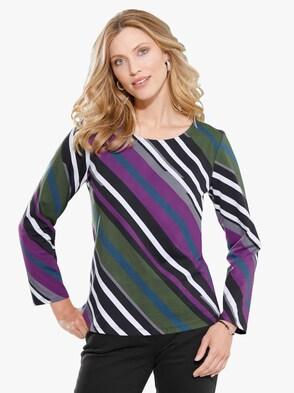 Shirt - lila-gemustert