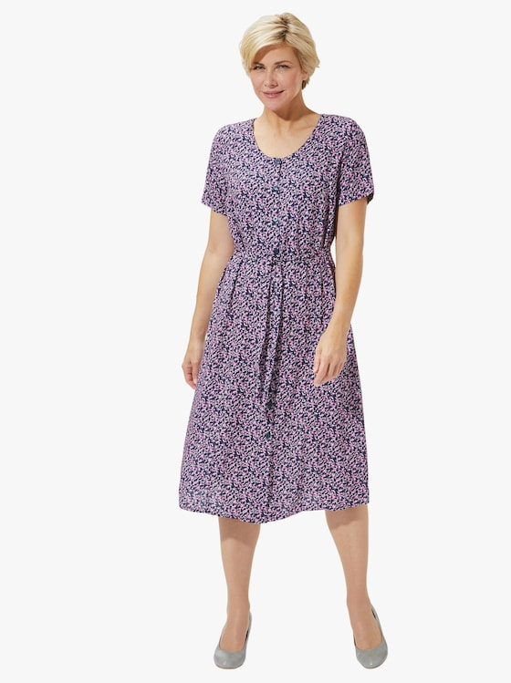 Kleid - fuchsia-bedruckt