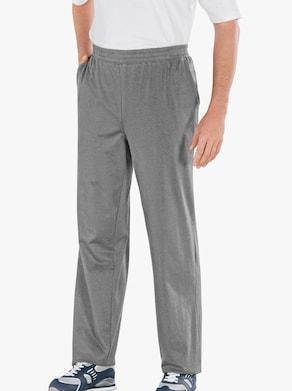 Kalhoty pro volný čas - antracitová-melír