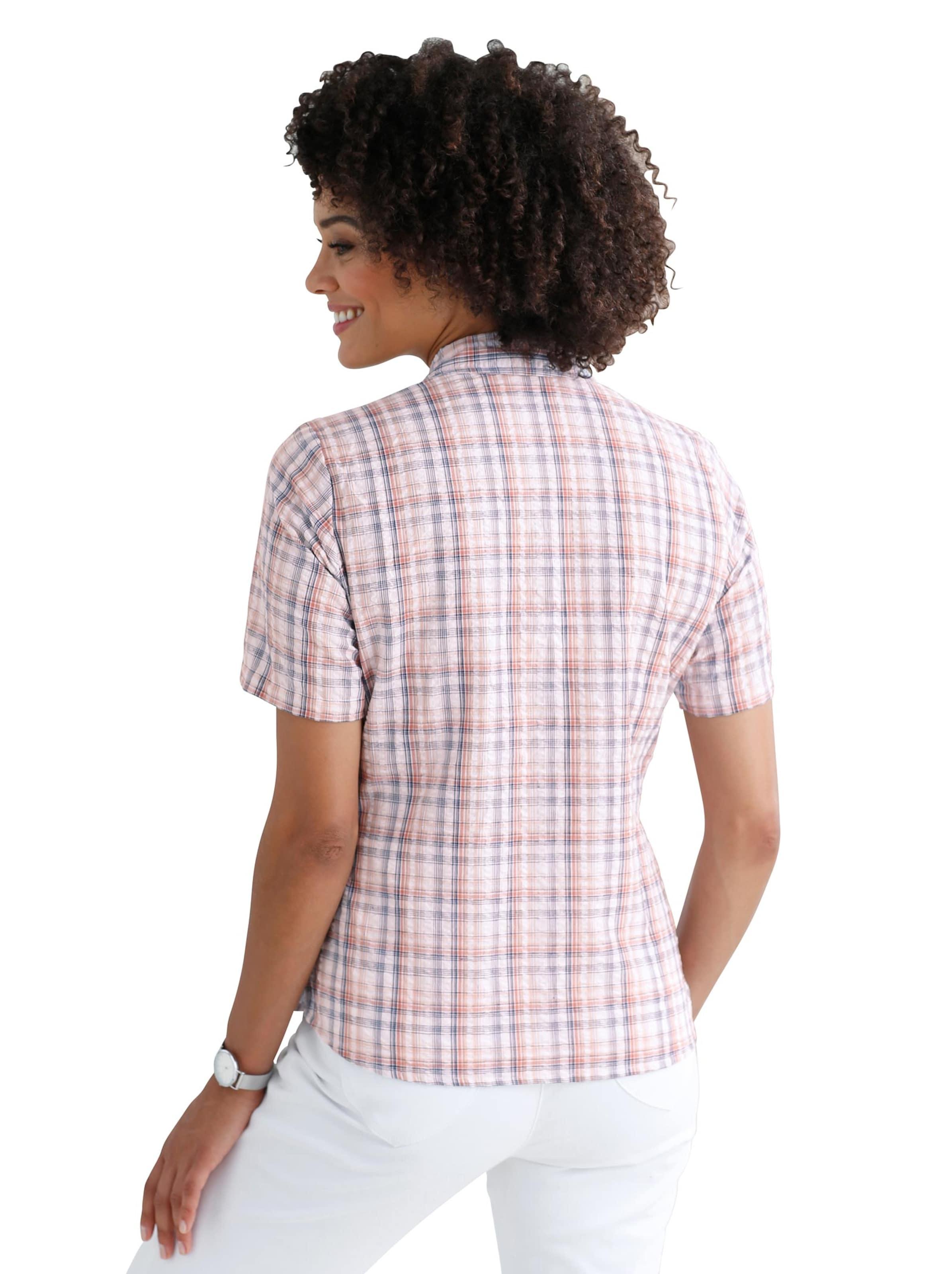 Your Look... for less! Dames Katoenen blouse grapefruit-geruit Größe