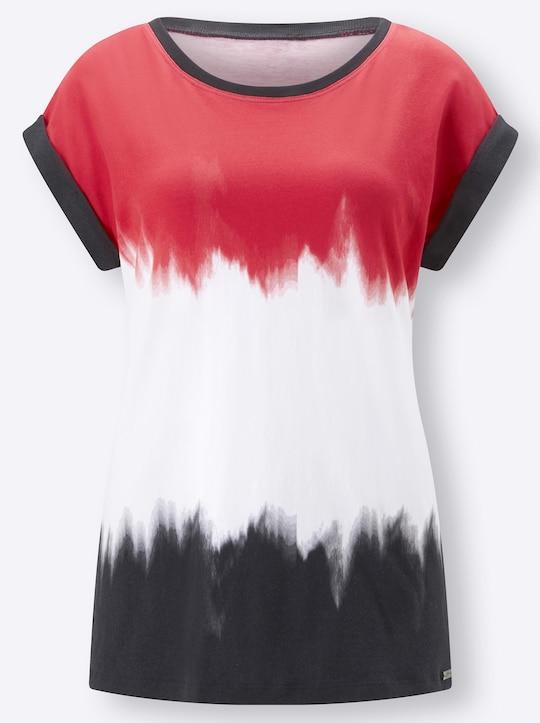 Cybele Shirt - rot-weiß-schwarz