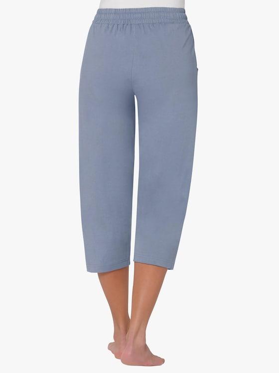 3/4-Schlafanzug-Hosen - rosé + blau