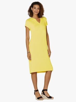Jersey-Kleid - zitrone