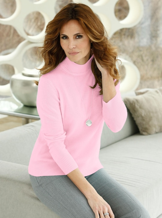 Kaschmir-Pullover - rosé-meliert