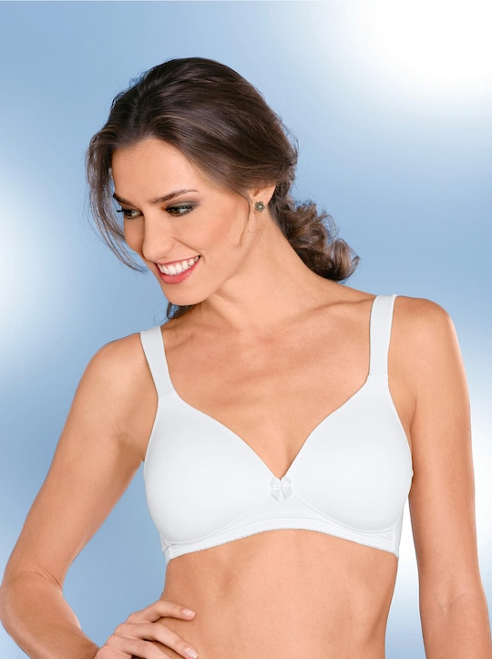 Naturana T-Shirt-BH ohne Bügel - weiß