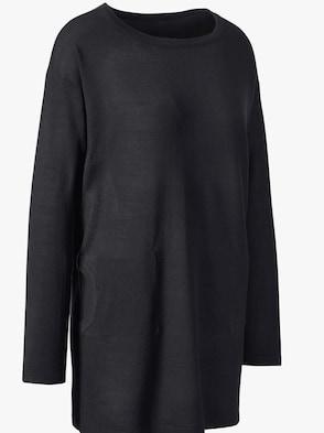 Lange pullover - zwart