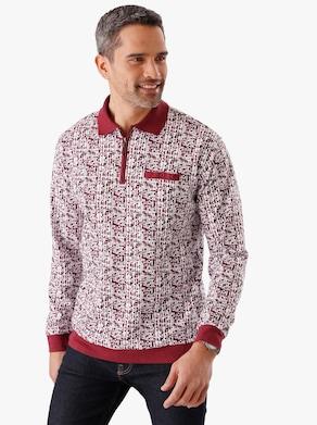 Poloshirt - bordeaux-bedruckt