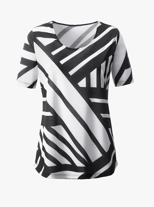 Tričko - černá-bílá-vzor