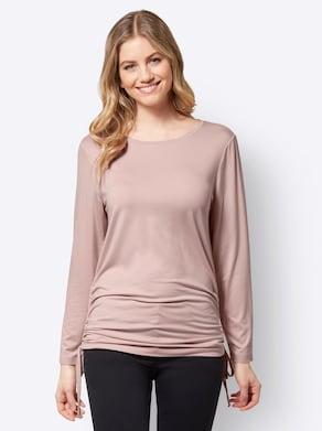 Lang shirt - poudre