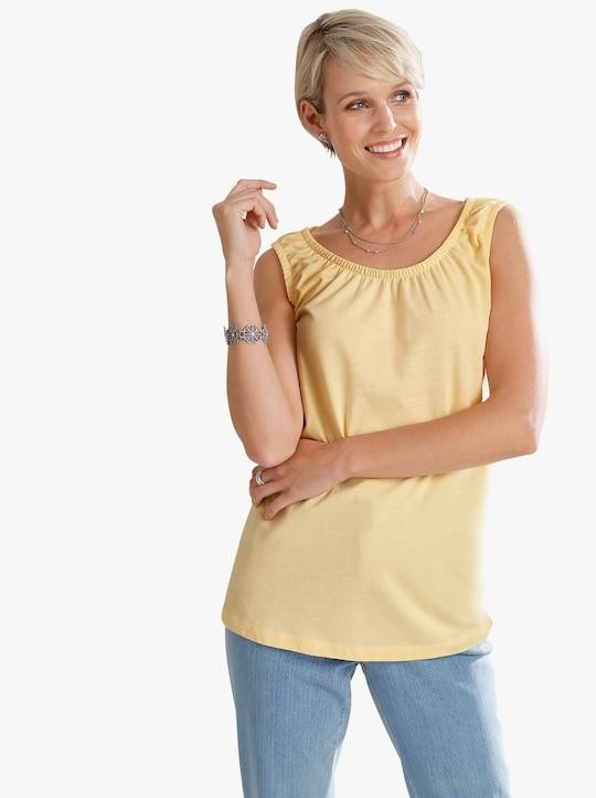 Shirttop - vanillegeel