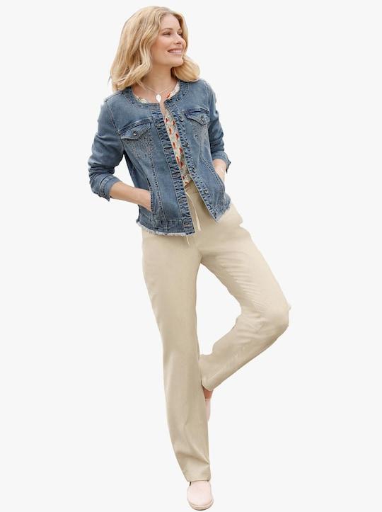 Jeans-Blazer - blue-stone-washed
