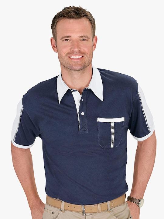 Poloshirt - marine-weiß