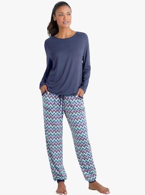 Pyjama - marine gedessineerd