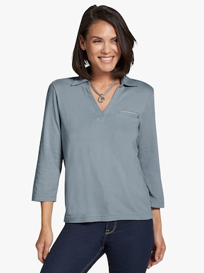 Shirt - ijsblauw