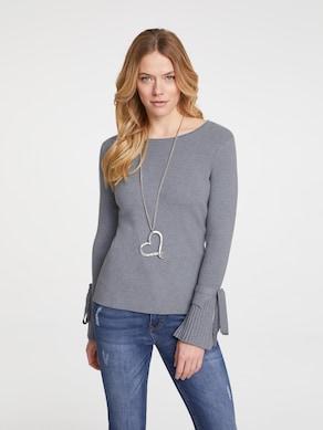 Linea Tesini Pullover - grau-melange