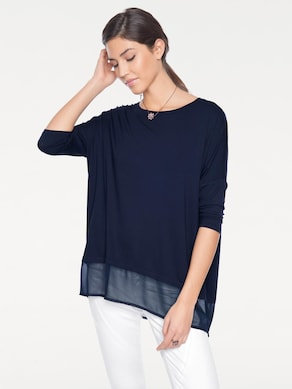 Linea Tesini Oversized Shirt - marine
