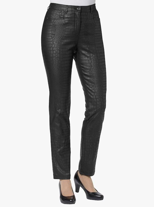 Kalhoty - černá-vzor
