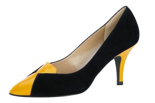 heine pumps - zwart/geel