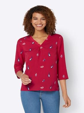 Bluse - erdbeere-zitrone-bedruckt