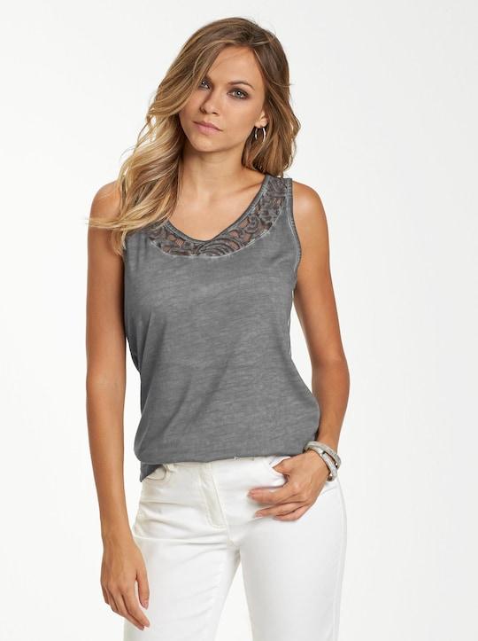 Shirttop - grau