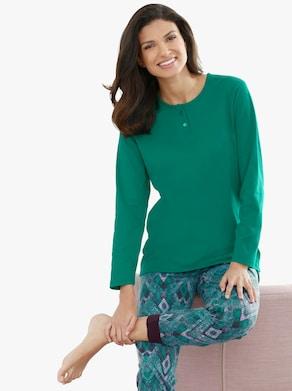 Pyjama-Broek - smaragdgroen geprint