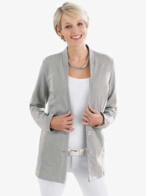 Jersey blazer - grijs gemêleerd