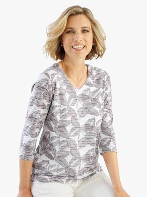 Shirt - taupe/ecru
