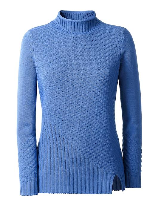 Collection L Pullover - blau