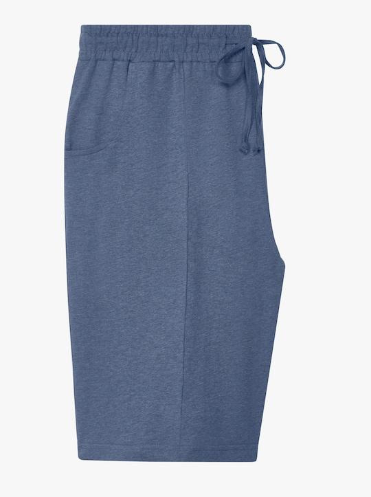 Freizeitbermudas - jeansblau-meliert
