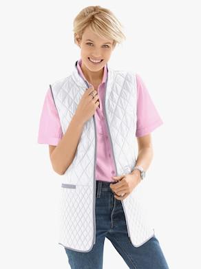 Prešívaná vesta - Biela