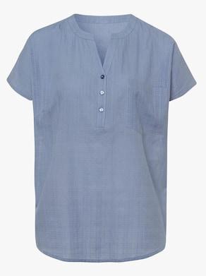 Schlupfbluse - taubenblau